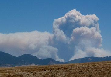 The Hayman Fire, mid-day Sunday