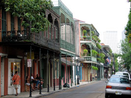 Decatur Street in the French Quarter