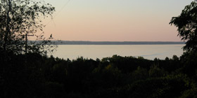 Cayuga Lake from Dave's yard